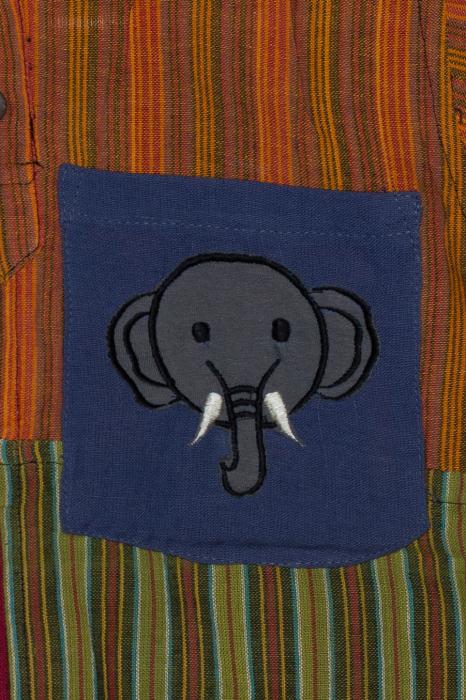 Camasa din bumbac de copii, Elefant marimea L - maneca scurta unicata M4 1