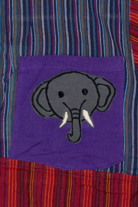 Camasa din bumbac de copii, Elefant marimea XL - maneca scurta unicata M4 1
