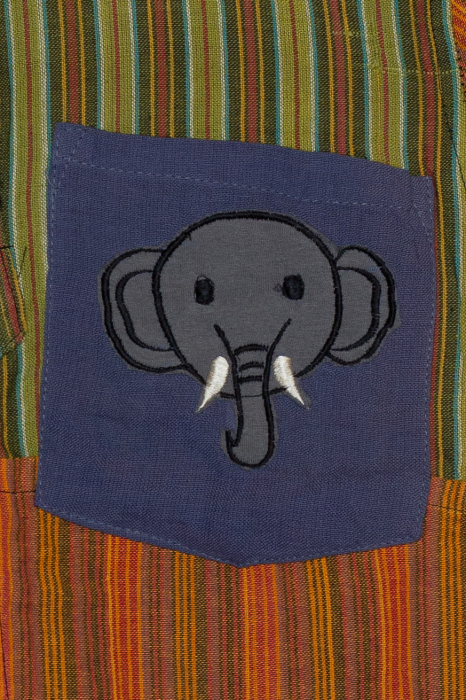 Camasa din bumbac de copii, Elefant marimea L - maneca scurta unicata M7 1