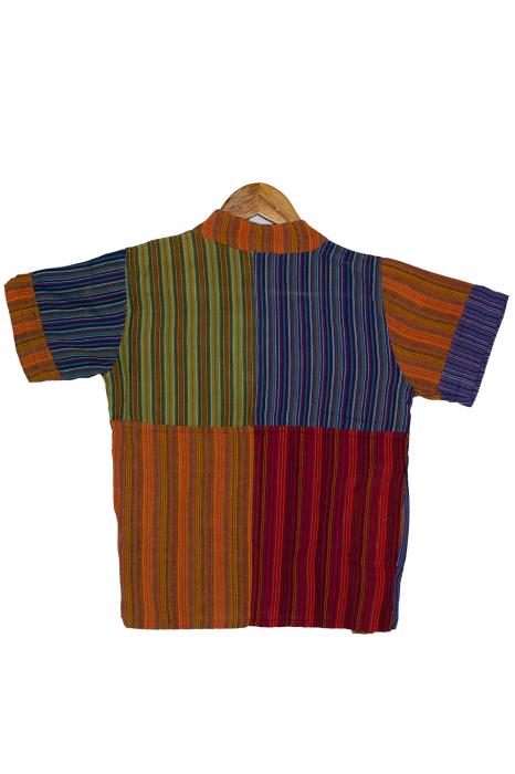 Camasa din bumbac de copii, Tigru marimea XL - maneca scurta unicata M2 2
