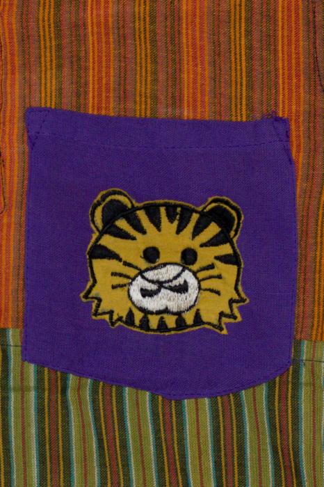 Camasa din bumbac de copii, Tigru marimea XL - maneca scurta unicata M2 1