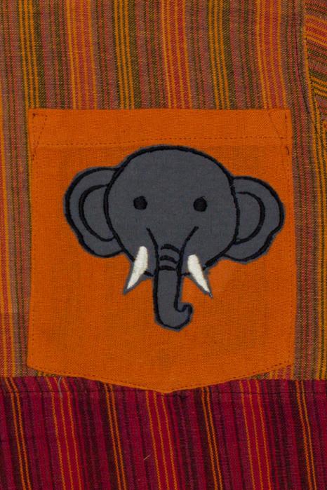Camasa din bumbac de copii, Elefant marimea XL - maneca scurta unicata M3 1
