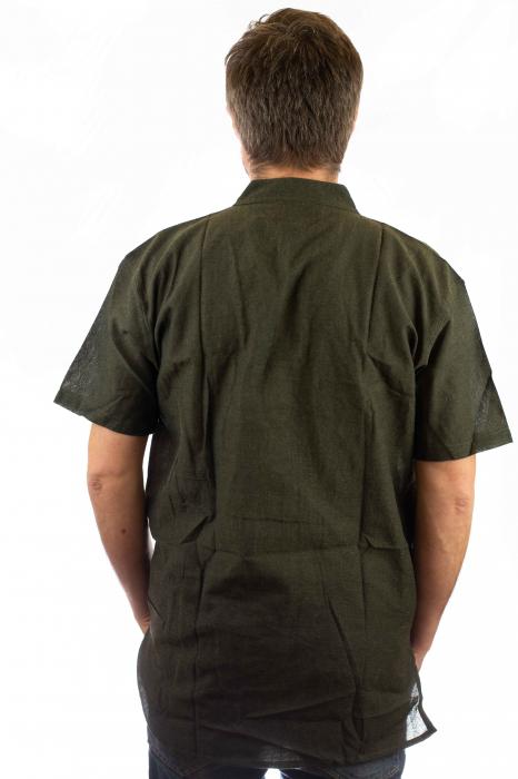 Camasa lejera de bumbac - Verde 2