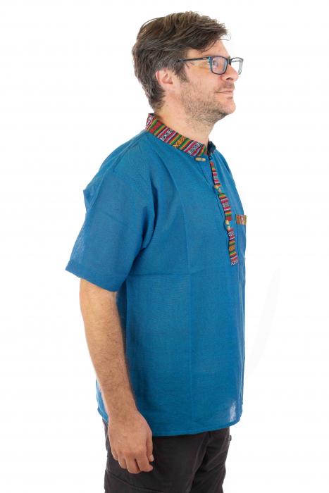 Camasa lejera de vara - Etno - Albastru [1]