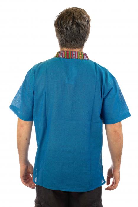 Camasa lejera de vara - Etno - Albastru [2]