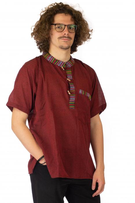 Camasa lejera de vara - Etno - Rosu 1