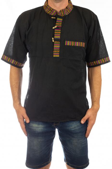 Camasa lejera de vara - Etno - Negru 0