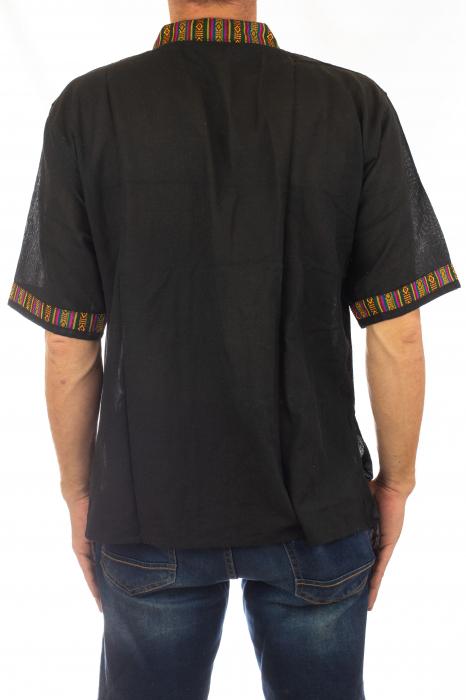 Camasa lejera de vara - Etno - Negru 4