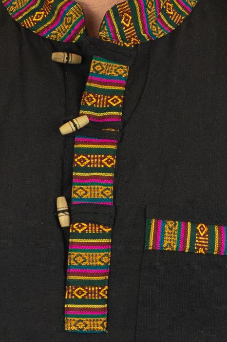 Camasa lejera de vara - Etno - Negru 1