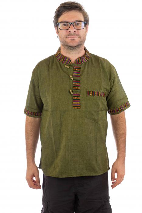 Camasa lejera de vara - Etno - Verde 0