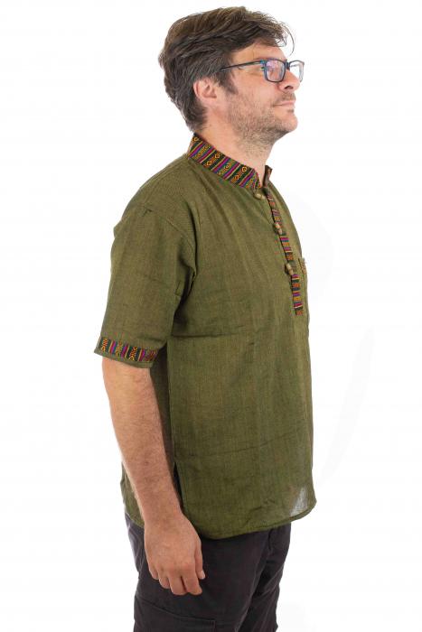 Camasa lejera de vara - Etno - Verde 1