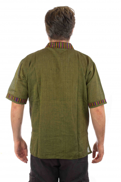 Camasa lejera de vara - Etno - Verde 2
