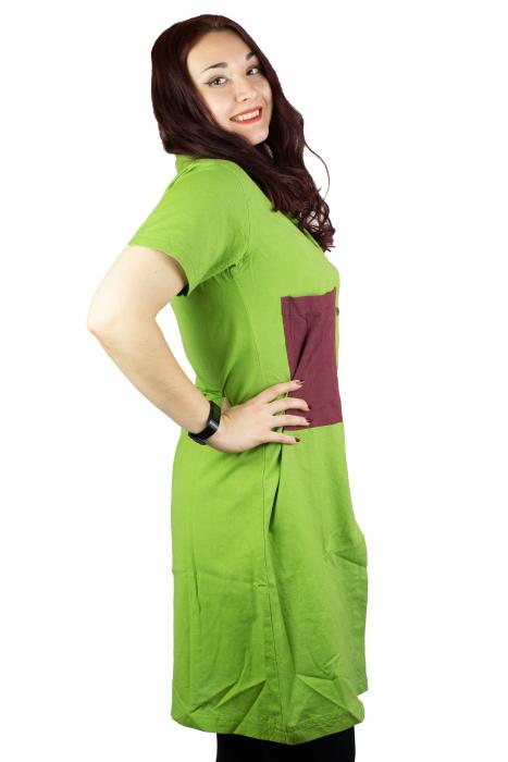 Camasa lunga asimetrica - Verde 1