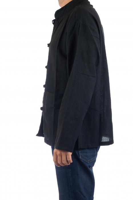 Camasa cu nod chinezesc - Chinese knot shirt - Neagra 4
