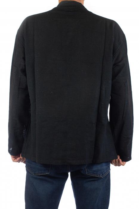 Camasa cu nod chinezesc - Chinese knot shirt - Neagra 5