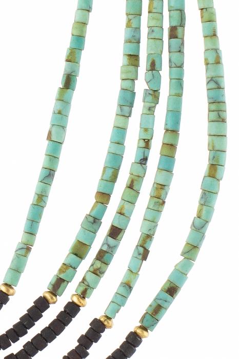Colier cu pietre 5 randuri V24 4