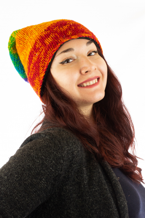 Caciula lunga din lana - Rainbow 0