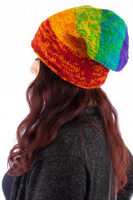 Caciula lunga din lana - Rainbow 1