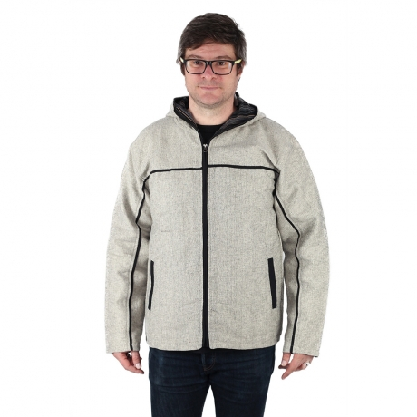 Jacheta barbateasca din bumbac - Gri 0