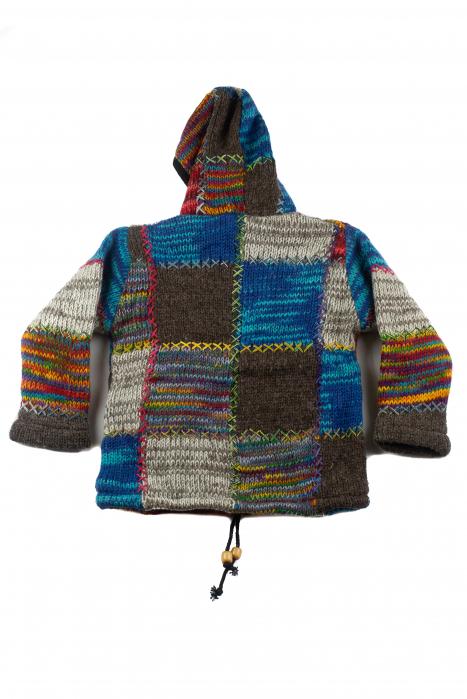 Jacheta pentru copii din lana - Rainbow Patch 1