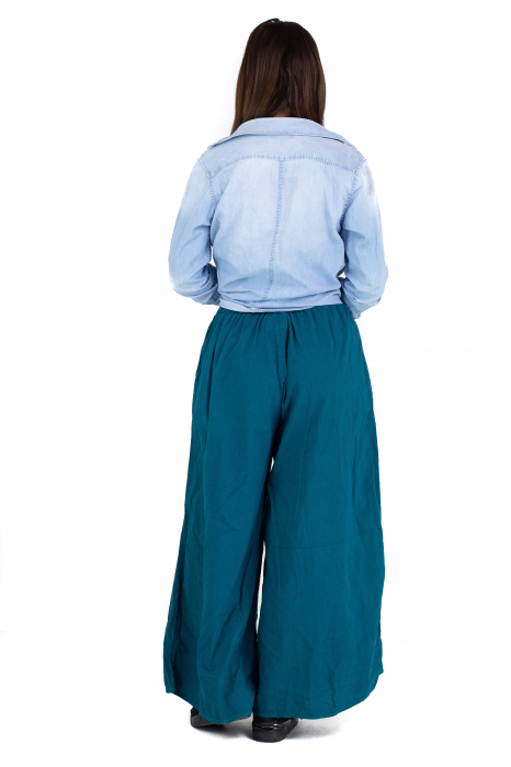 Culottes cu banda elastica - Turcoaz [3]