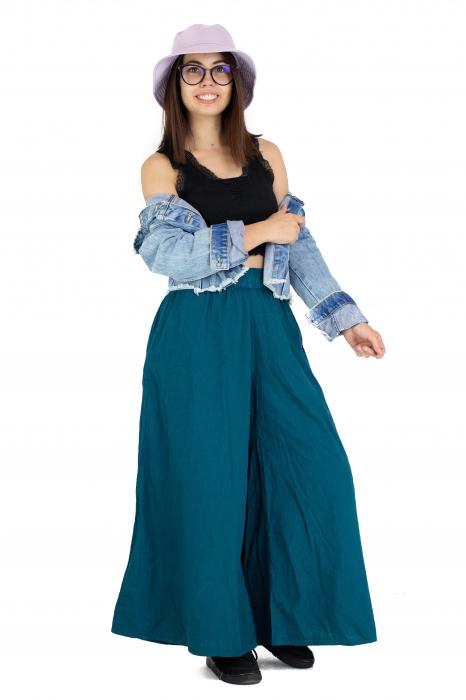 Culottes cu banda elastica - Turcoaz [8]