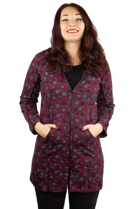 Jacheta femei rosie - Dots 0