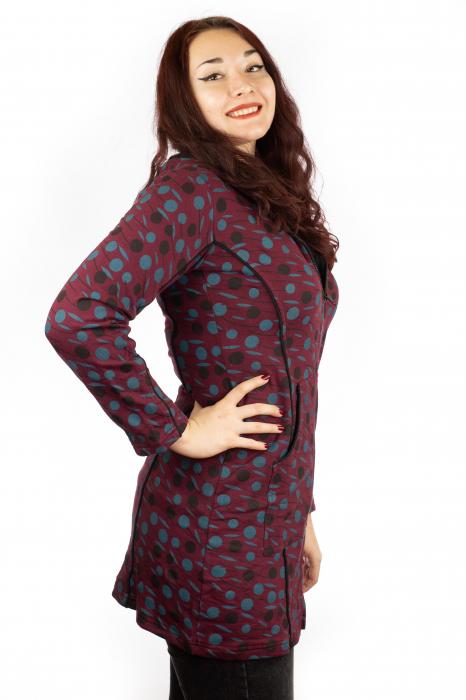 Jacheta femei rosie - Dots 1
