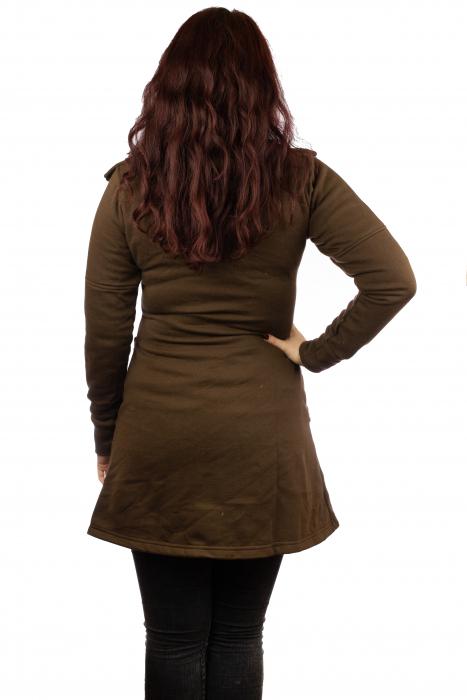 Jacheta femei din bumbac - Maro 3