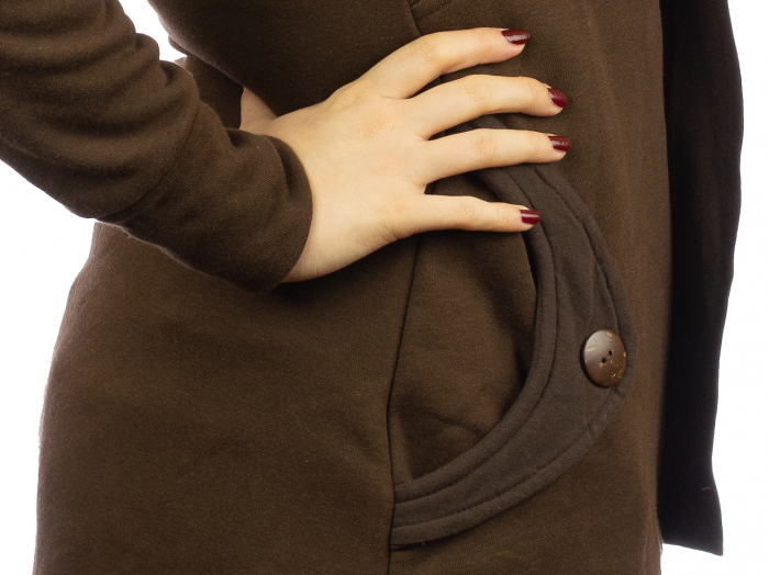 Jacheta femei din bumbac - Maro 2