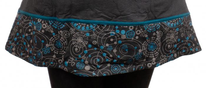 Jacheta de bumbac cu fermoar, print abstract – Negru si Albastru 5