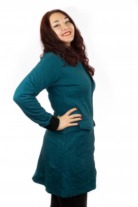 Jacheta femei albastra 1