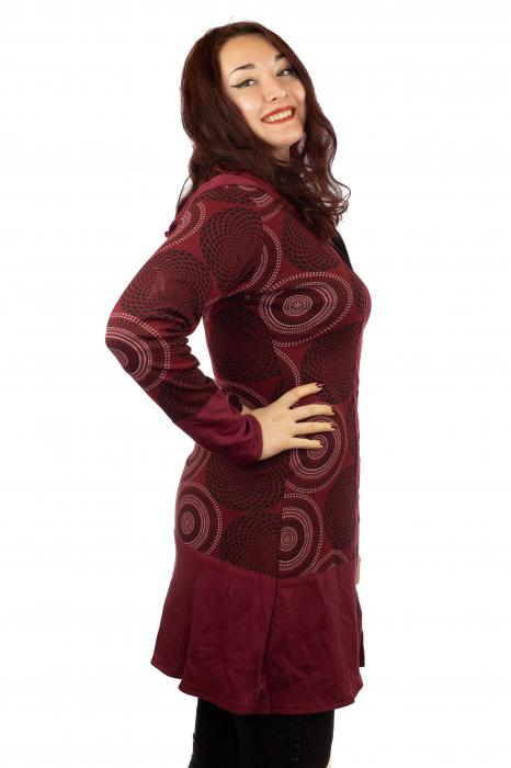 Jacheta femei subtire rosie 1