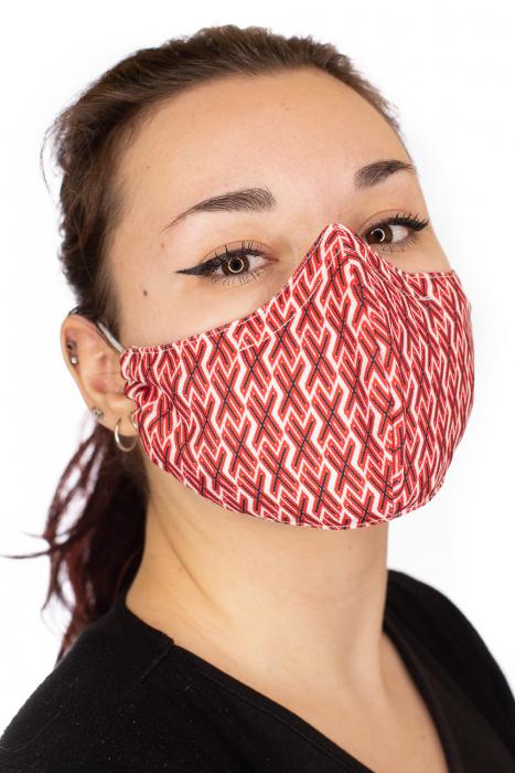 Masca bumbac cu filtru pentru adulti - Motiv 9 2