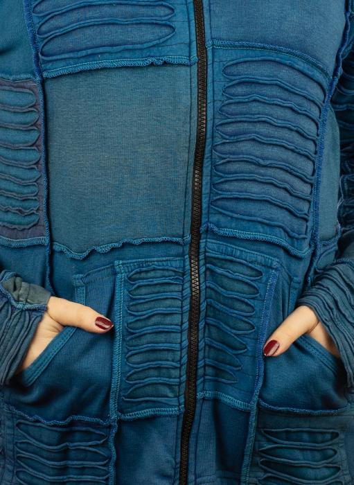 Hanorac albastru razor cut 2