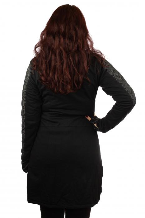 Jacheta femei neagra - Patterns 3
