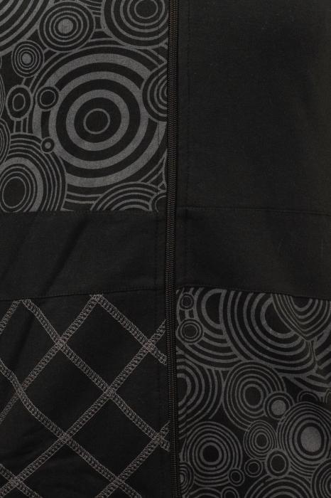 Jacheta femei neagra - Patterns 2