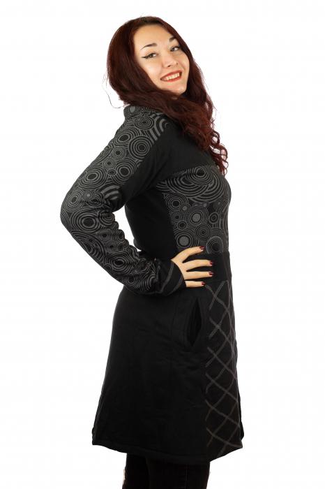 Jacheta femei neagra - Patterns 1