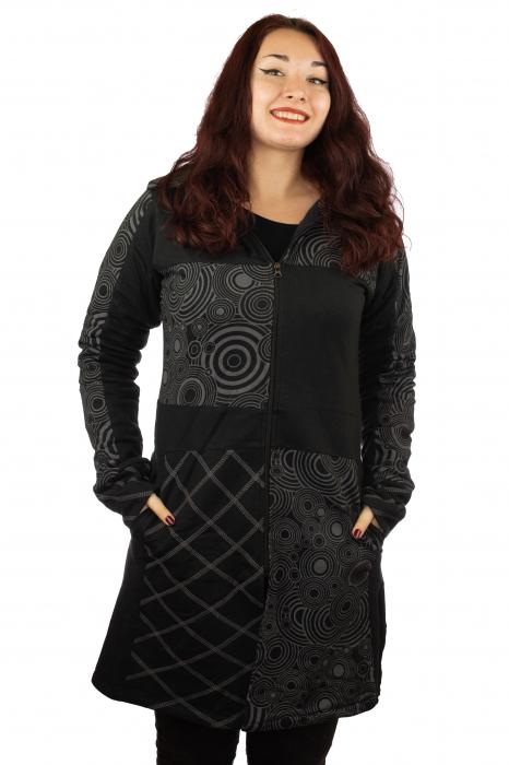 Jacheta femei neagra - Patterns 0