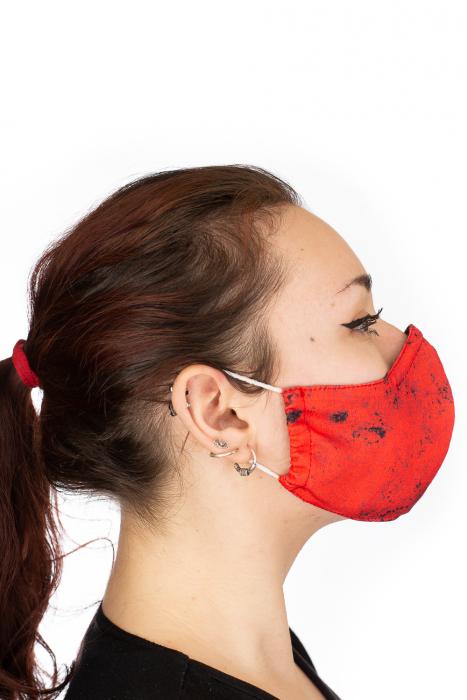 Masca bumbac cu filtru pentru adulti - Smiley Rosu 3