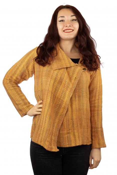 Jacheta femei scurta portocalie 0