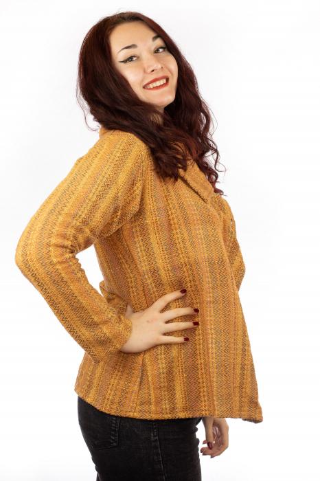 Jacheta femei scurta portocalie 1