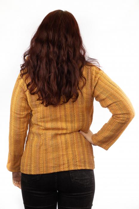 Jacheta femei scurta portocalie 2