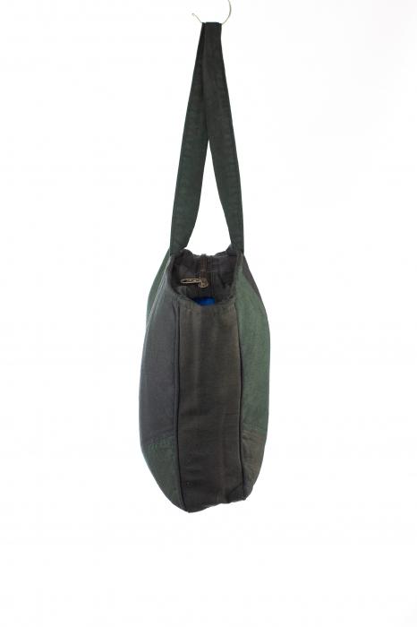 Geanta de umar din bumbac - Verde cu verde [1]