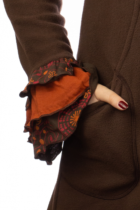 Jacheta femei - Maro cu portocaliu 3