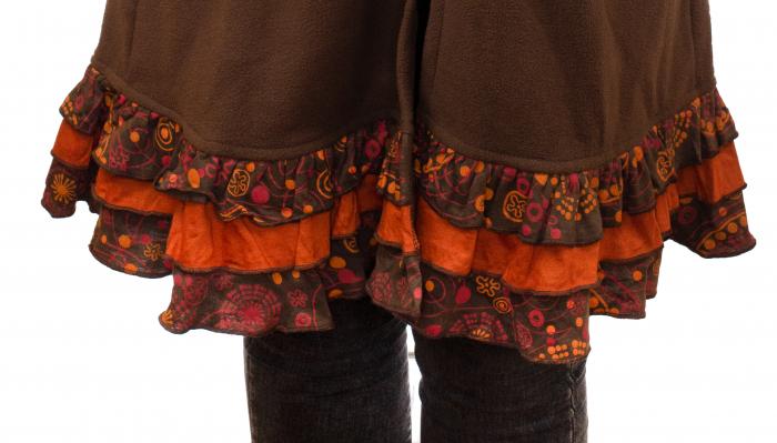 Jacheta femei - Maro cu portocaliu 4