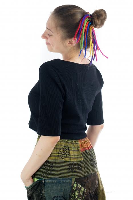 Dreaduri sintetice - Rainbow lung - felt longer hair gom [2]