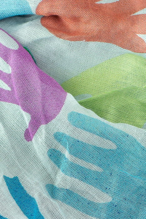 Esarfa subtire colorata - Hands 1