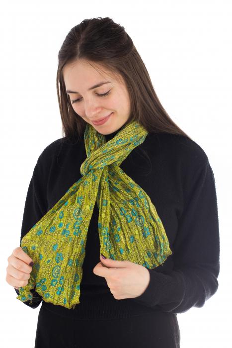 Esarfa subtire - Lime Green 2