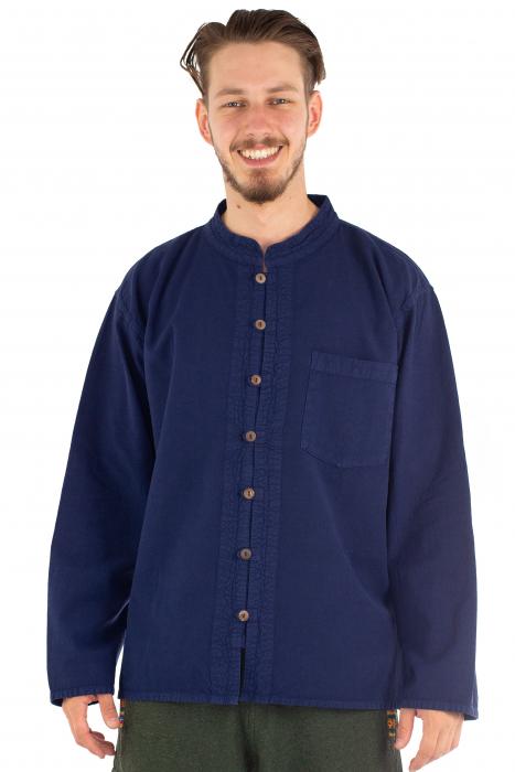 Camasa lejera cu maneca lunga - Albastru inchis [1]
